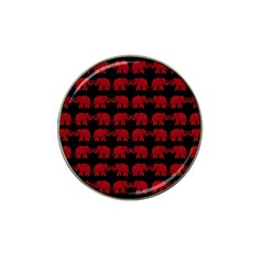 Indian elephant pattern Hat Clip Ball Marker (4 pack)