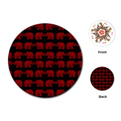 Indian elephant pattern Playing Cards (Round)