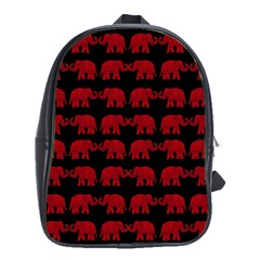 Indian elephant pattern School Bags(Large)