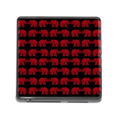 Indian elephant pattern Memory Card Reader (Square)