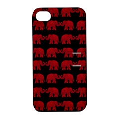 Indian elephant pattern Apple iPhone 4/4S Hardshell Case with Stand