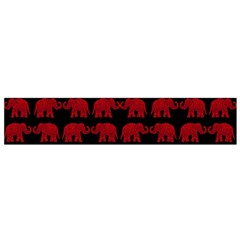 Indian elephant pattern Flano Scarf (Small)