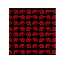 Indian elephant pattern Small Satin Scarf (Square)