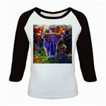 Abstract Elephant With Butterfly Ears Colorful Galaxy Kids Baseball Jerseys Front
