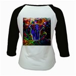 Abstract Elephant With Butterfly Ears Colorful Galaxy Kids Baseball Jerseys Back