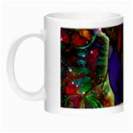 Abstract Elephant With Butterfly Ears Colorful Galaxy Night Luminous Mugs Left