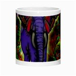 Abstract Elephant With Butterfly Ears Colorful Galaxy Night Luminous Mugs Center