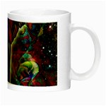 Abstract Elephant With Butterfly Ears Colorful Galaxy Night Luminous Mugs Right