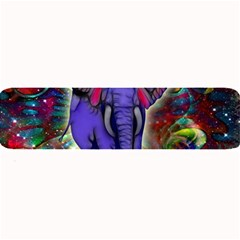 Abstract Elephant With Butterfly Ears Colorful Galaxy Large Bar Mats