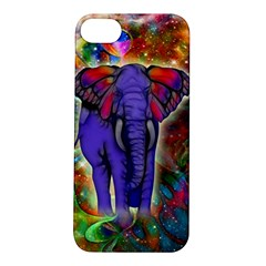 Abstract Elephant With Butterfly Ears Colorful Galaxy Apple iPhone 5S/ SE Hardshell Case