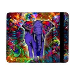 Abstract Elephant With Butterfly Ears Colorful Galaxy Samsung Galaxy Tab Pro 8 4  Flip Case