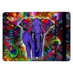 Abstract Elephant With Butterfly Ears Colorful Galaxy Samsung Galaxy Tab Pro 12.2  Flip Case Front