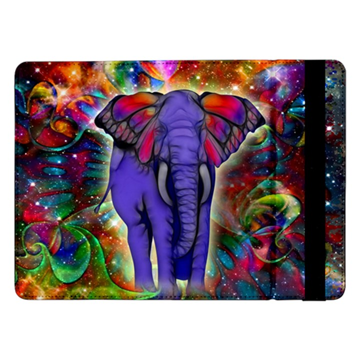Abstract Elephant With Butterfly Ears Colorful Galaxy Samsung Galaxy Tab Pro 12.2  Flip Case