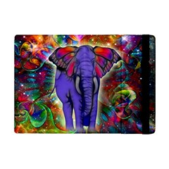 Abstract Elephant With Butterfly Ears Colorful Galaxy Ipad Mini 2 Flip Cases