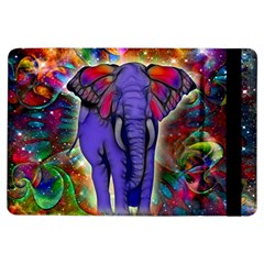 Abstract Elephant With Butterfly Ears Colorful Galaxy Ipad Air Flip