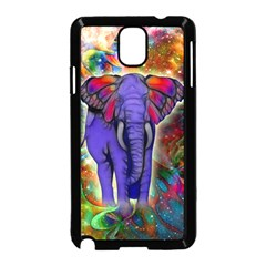 Abstract Elephant With Butterfly Ears Colorful Galaxy Samsung Galaxy Note 3 Neo Hardshell Case (black)