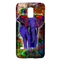 Abstract Elephant With Butterfly Ears Colorful Galaxy Galaxy S5 Mini