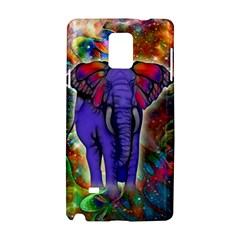 Abstract Elephant With Butterfly Ears Colorful Galaxy Samsung Galaxy Note 4 Hardshell Case