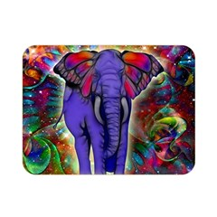 Abstract Elephant With Butterfly Ears Colorful Galaxy Double Sided Flano Blanket (mini)