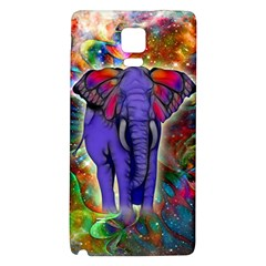 Abstract Elephant With Butterfly Ears Colorful Galaxy Galaxy Note 4 Back Case