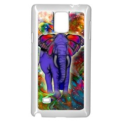 Abstract Elephant With Butterfly Ears Colorful Galaxy Samsung Galaxy Note 4 Case (white)