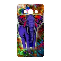 Abstract Elephant With Butterfly Ears Colorful Galaxy Samsung Galaxy A5 Hardshell Case