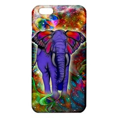 Abstract Elephant With Butterfly Ears Colorful Galaxy Iphone 6 Plus/6s Plus Tpu Case