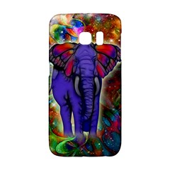 Abstract Elephant With Butterfly Ears Colorful Galaxy Galaxy S6 Edge