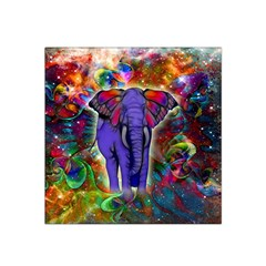 Abstract Elephant With Butterfly Ears Colorful Galaxy Satin Bandana Scarf