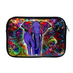 Abstract Elephant With Butterfly Ears Colorful Galaxy Apple Macbook Pro 17  Zipper Case