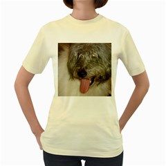 Old English Sheepdog Women s Yellow T-Shirt