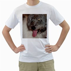 Old English Sheepdog Men s T-Shirt (White) (Two Sided)