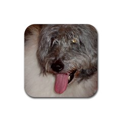 Old English Sheepdog Rubber Coaster (Square)