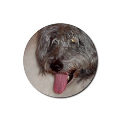 Old English Sheepdog Rubber Coaster (Round)