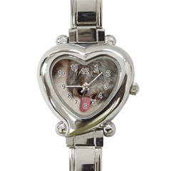 Old English Sheepdog Heart Italian Charm Watch