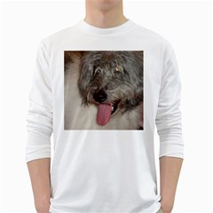 Old English Sheepdog White Long Sleeve T-Shirts