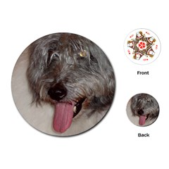 Old English Sheepdog Playing Cards (Round)