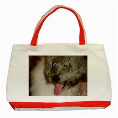 Old English Sheepdog Classic Tote Bag (Red)