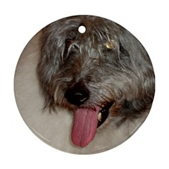 Old English Sheepdog Round Ornament (Two Sides)