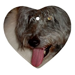 Old English Sheepdog Heart Ornament (Two Sides)