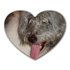 Old English Sheepdog Heart Mousepads