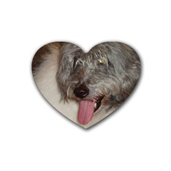 Old English Sheepdog Heart Coaster (4 pack)