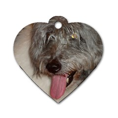 Old English Sheepdog Dog Tag Heart (Two Sides)