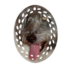 Old English Sheepdog Oval Filigree Ornament (Two Sides)
