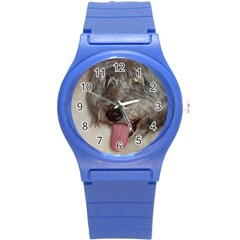Old English Sheepdog Round Plastic Sport Watch (S)