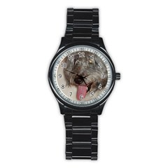 Old English Sheepdog Stainless Steel Round Watch