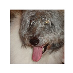 Old English Sheepdog Small Satin Scarf (Square)