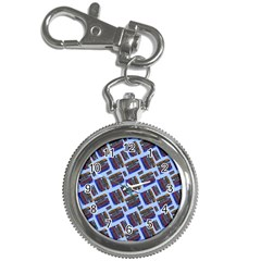 Abstract Pattern Seamless Artwork Key Chain Watches