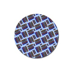 Abstract Pattern Seamless Artwork Magnet 3  (round)
