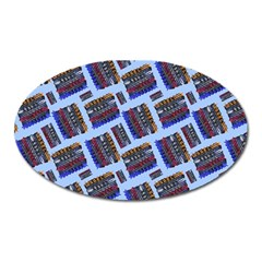 Abstract Pattern Seamless Artwork Oval Magnet